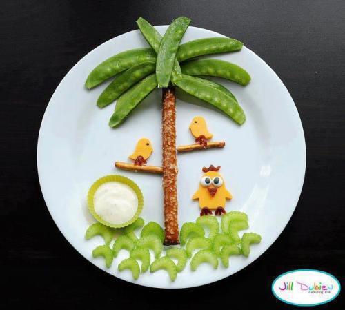 palmera infantil de judia verde