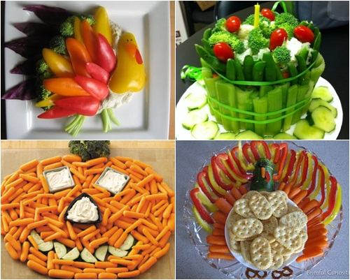 platos de verduras decorados para niños