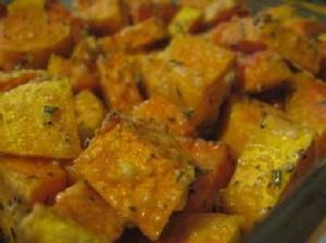 plato de calabazas con romero