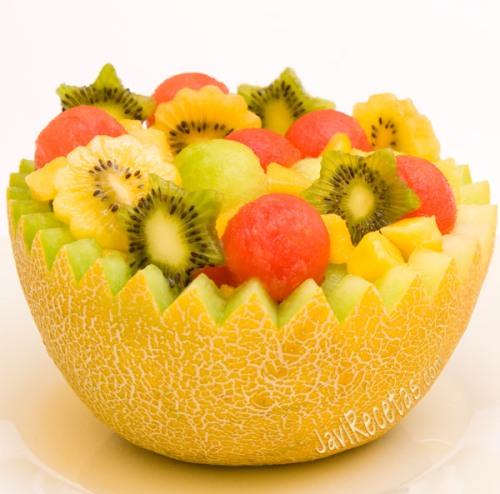 malon relleno de frutas