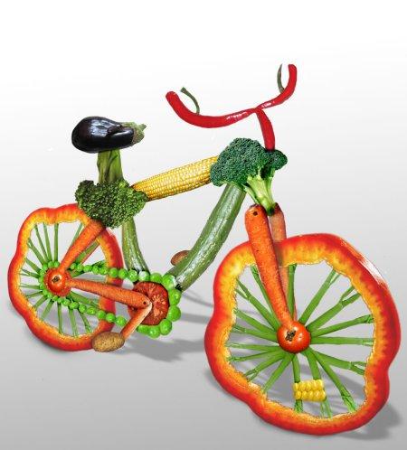 bicicleta de verduras