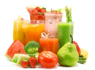 jugos de frutas variadas