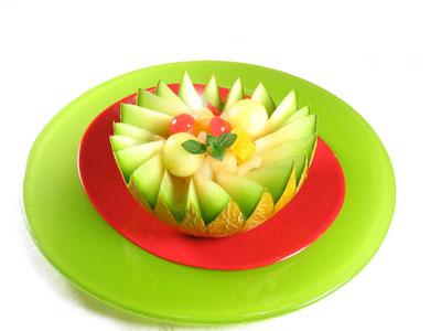 postre de melon