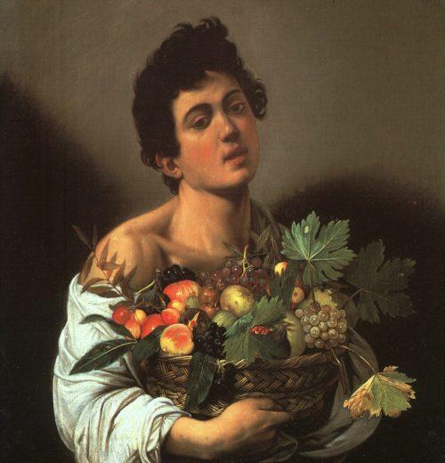 Muchacho con cesta de frutas de Caravaggio