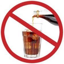 señal de prohibición de coca cola