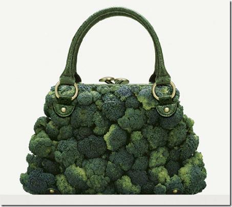 bolso de mano de brocoli
