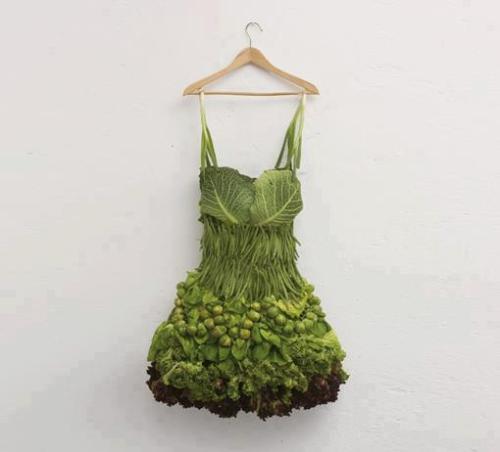 vestido de verduras