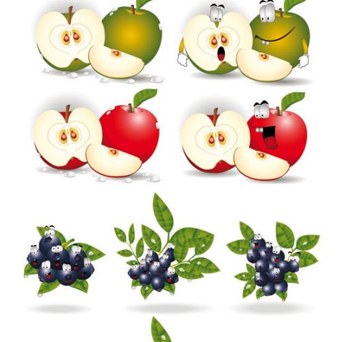 Arte con frutas en ilustraciones de vector: Caricaturas de ...