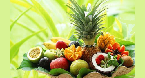 frutas tropical variada