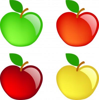 Arte en ilustraciones de vector: Manzanas de colores. | Consejo ...