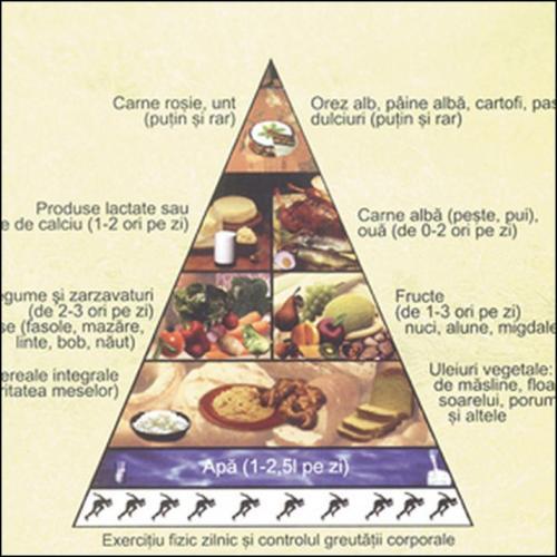 Pirámide alimentaria de Rumanía