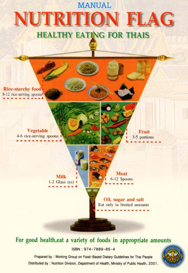 Pirámides Alimentarias para Asia y las Islas del Pacífico: India, Turquía, China,Tailandia, Japón y Australia. (4/6)