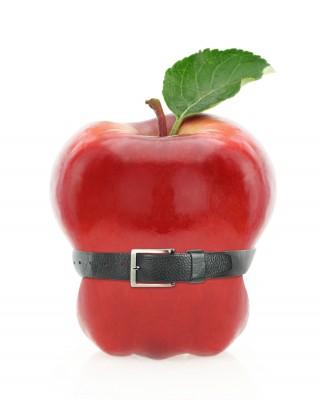 manzana con cinturón