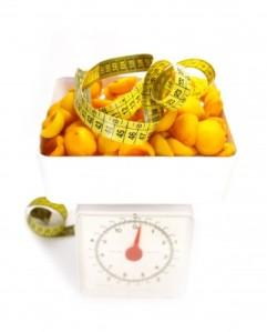 medida de peso y fruta