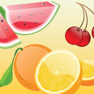 vector de frutas estilo glossy