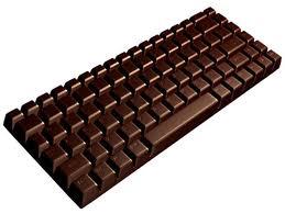 teclado de ordenador de chocolate negro
