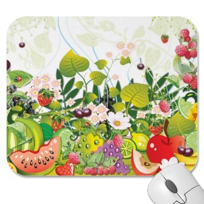 jardin paradisiaco con frutas virtual y mouse