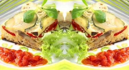 pastel de verduras asadas