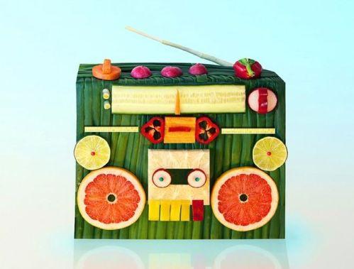 radio de frutas, verduras y hortalizas