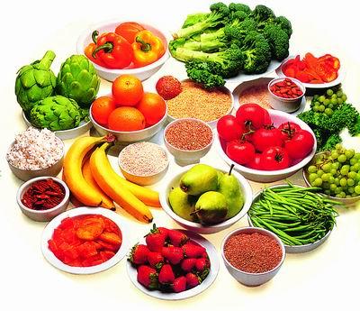 frutas, verduras y cereales