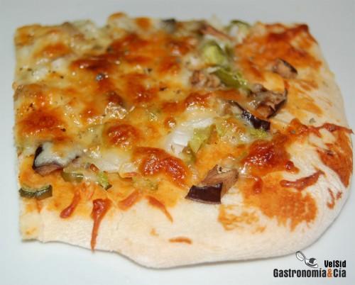 receta de pizza con verduras
