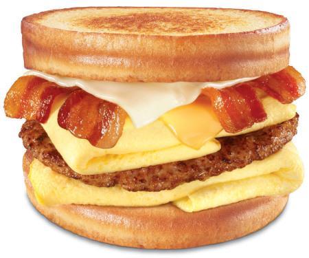 hamburguesa con tocino, queso y huevo