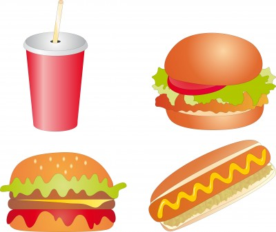 alimentos grasos y bebida azucarada
