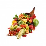 abundancia de frutas y verduras