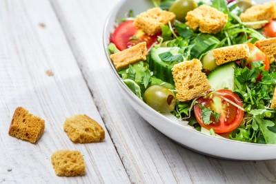 detalle de ensalada de hortalizas