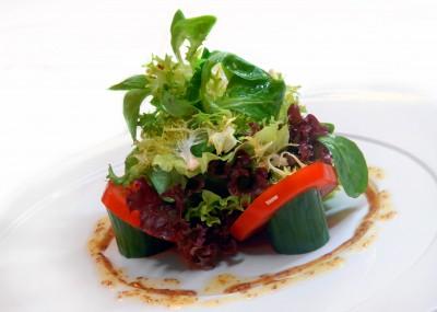 decoración con verduras