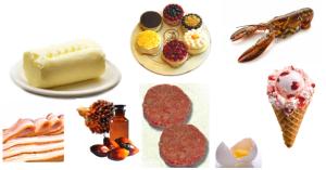 alimentos ricos en grasas saturadas