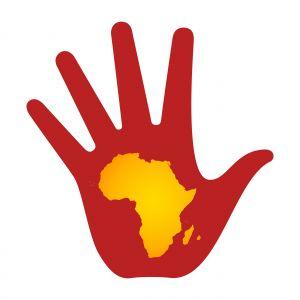 mano con mapa de africa