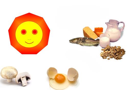 el sol y alimentos que la contienen