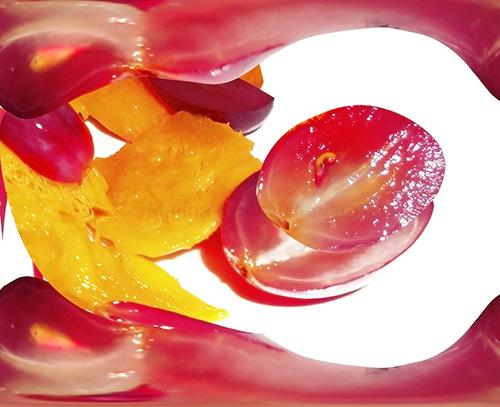 surrealismo con frutas