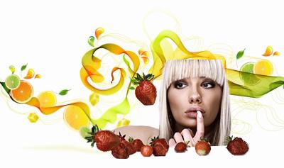 fresas y cítricos
