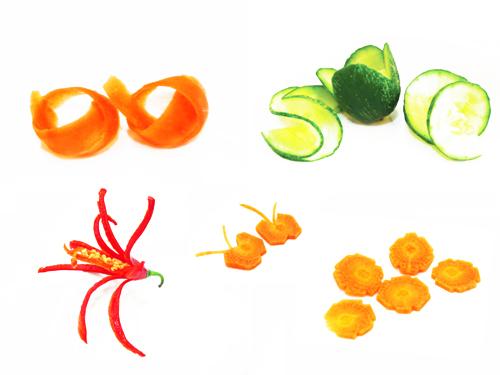 tallado de vegetales