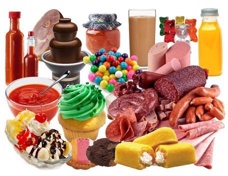 comida nada saludable