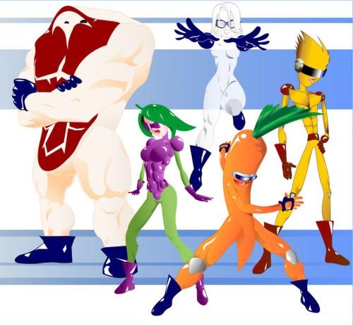 superheroes de la alimentacion
